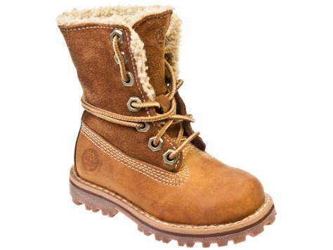 timberland authentics shearling toddler brown leather 338 | 7804 1