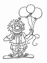 Clown Coloring sketch template