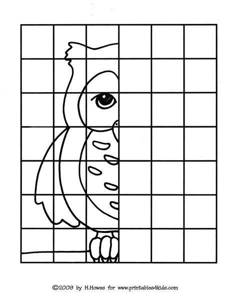 Owl Complete The Picture Drawing  Printables For Kids  Free Word Search Puzzles, Coloring