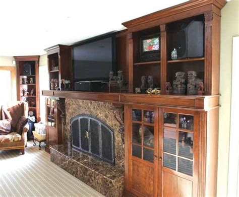 custom fireplace wall unit