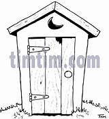 Drawings Outhouse Drawing Timtim Coloring Sketch Sketches Bw History Sketchite Tool Privy Template sketch template