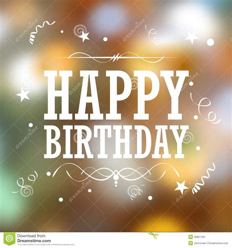 happy birthday typography background stock image image 36821491