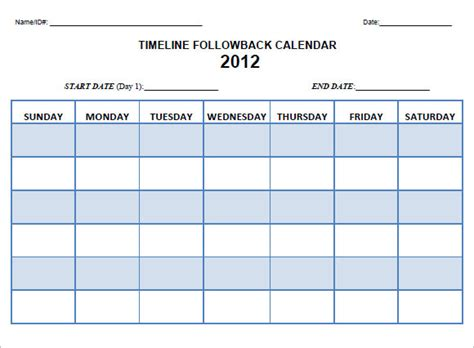 calendar timeline templates  samples examples