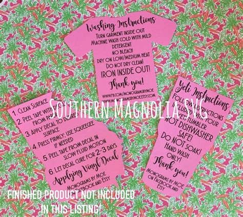 Caluya design's svg cut file & font downloads are 100% free for personal use. Tumbler Cup Care Card Instructions - Print and Cut File ...