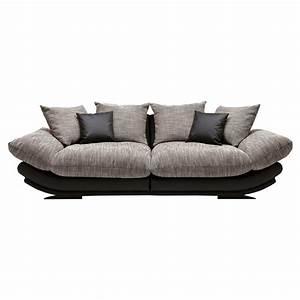 Sofaüberwurf Für Xxl Sofa : xxl couch sofa bigsofa in schwarz 300cm breit neu ebay ~ Bigdaddyawards.com Haus und Dekorationen