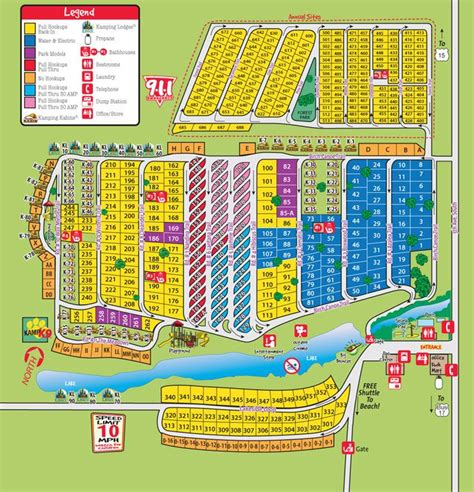 Campground Site Map  Camping!!  Pinterest  Myrtle Beach