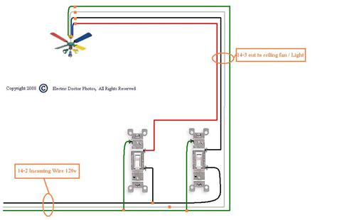 how to wire a ceiling fan switch ceiling lighting wiring a fan with light diagram in how to