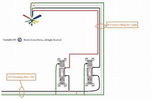 Wiring diagram for ceiling fan without light