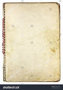Old Vintage Paper Spiral Notebook Isolated On White ...