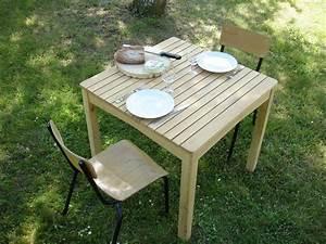 Table Jardin Acacia : table de jardin en robinier faux acacia massif pour 4 ou 6 personnes ~ Teatrodelosmanantiales.com Idées de Décoration