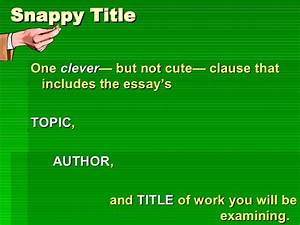 Example Of Essay Proposal Clever Essay Titles About Money 5 Paragraph Essay Topics For High School also Analytical Essay Thesis Example Clever Essay Titles Best Admission Essay Ghostwriting Website Canada  Teaching Essay Writing To High School Students