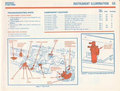Wiring A 1 4 Instrument by 1981 F100 Cluster Wiring Diagram Ford Truck