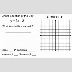 122 Best Images About Algebra Graphing Linear Equations & Functions On Pinterest Activities
