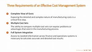 Three Requirements For An Effective Cost Management System