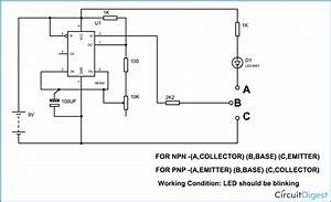 Simple Transistor Tester Circuit Diagram Using 555 Timer Ic