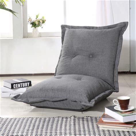 homcom adjustable linen chaise sofa chair folding pillow