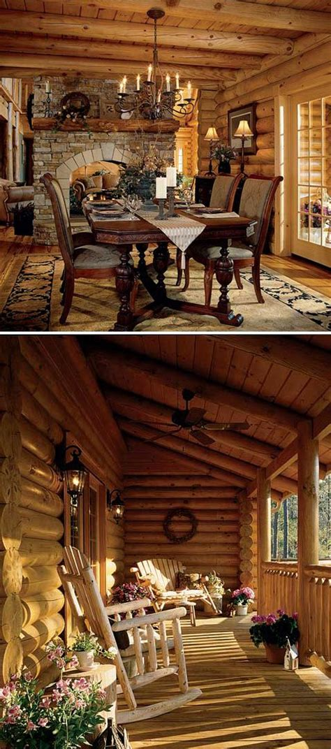 gorgeous log home perfect porch i would love to live in