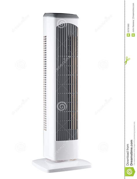 fan and air conditioner portable electric fan and air conditioner stock photo