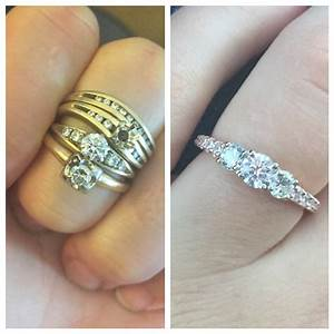 share your reset heirloom diamonds for engagement ring With reset wedding ring