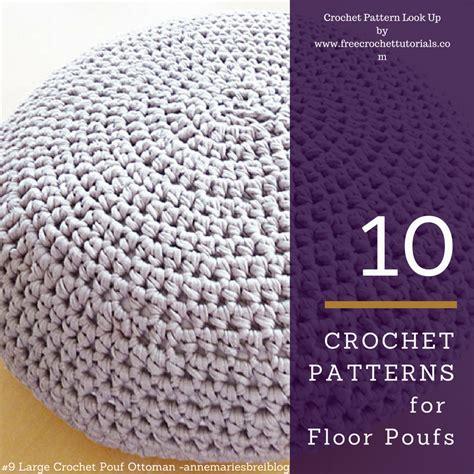 crochet pouf ottoman pattern free 10 crochet patterns for t shirt yarn floor poufs free crochet tutorials