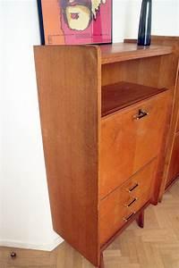 Secrtaire Bureau Vintage Scandinave 3 Tiroirs 5039s