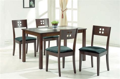 wood and glass top modern furniture table set