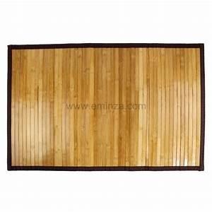 Tapis Salle De Bain Ikea : tapis de bain lattes fonc es bois bambou tapis salle de bain eminza ~ Teatrodelosmanantiales.com Idées de Décoration