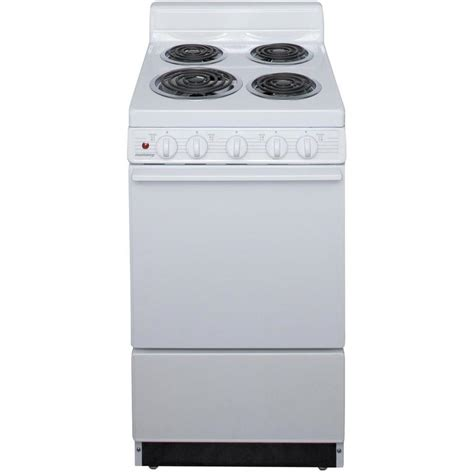 20 inch stove shop freestanding 2 4 cu ft electric range white