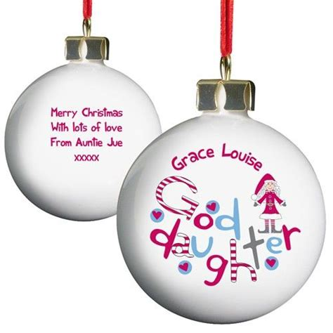 personalised christmas bauble goddaughter
