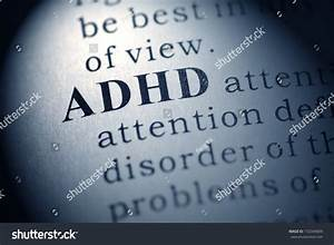 Fake Dictionary Dictionary Definition Word Adhd Stock ...