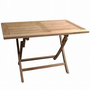 Table Exterieur Pliante : table teck exterieur pliante rectangulaire 120cm ~ Teatrodelosmanantiales.com Idées de Décoration