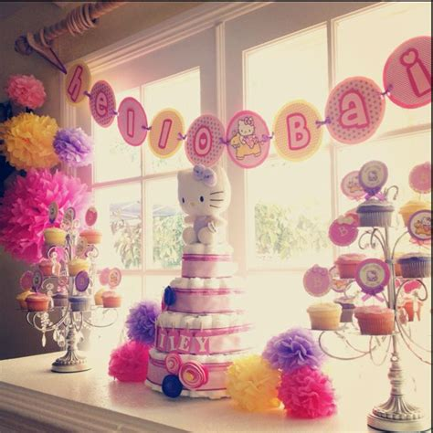 A Hello Kitty themed baby shower to say Hello Bailey! All