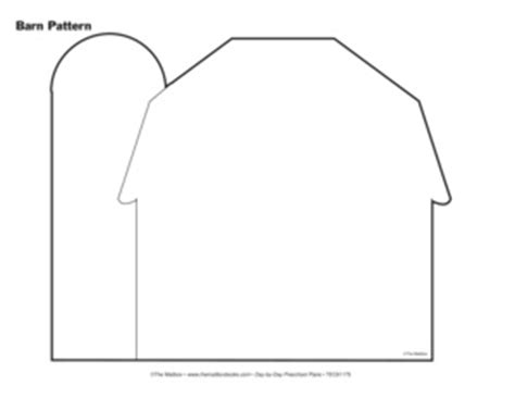 barn template results for barn preschool pattern guest the mailbox