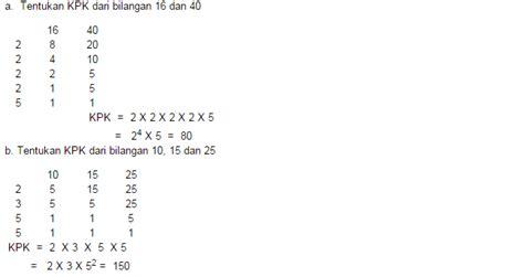 menghitung rumus kpk matematika rumus rumus