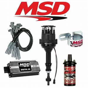 Msd Ignition Kit Black Digital 6a  Distributor  Wires  Coil