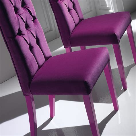 high end button upholstered dining chair
