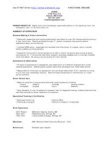emergency room registered resume exles bc nursing resume sales nursing lewesmr