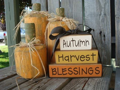 Blessings Home Decor: , Blessing Fall Wood Block Set