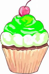 Green Birthday Cupcake Clip Art Pictures to Pin on ...