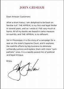 the appeal john grisham by john grisham With amazon appeal letter