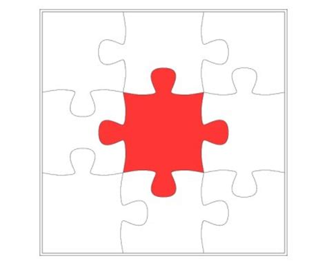 puzzle template  piece jigsaw puzzle template