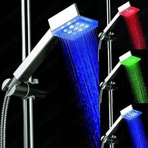 Bilder Mit Led : duschkopf mit led beleuchtung mit automatischem ~ Kayakingforconservation.com Haus und Dekorationen
