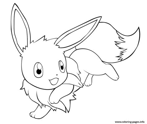 eevee happy coloring pages printable
