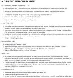 List of Job Description Duties