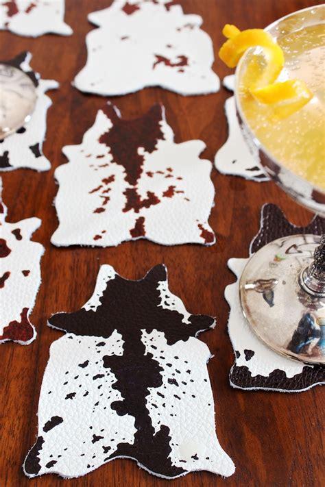 Cowhide Coasters by Diy Mini Cowhide Coasters