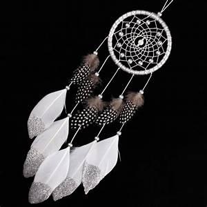Attrape Reve Blanc : attrape r ve design gris blanc ~ Teatrodelosmanantiales.com Idées de Décoration