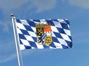 Deutschland Flagge Bilder : bayern mit wappen fahne kaufen 90 x 150 cm ~ Markanthonyermac.com Haus und Dekorationen