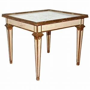 classical moderne mirrored coffee or side table for sale With mirrored coffee table and end tables