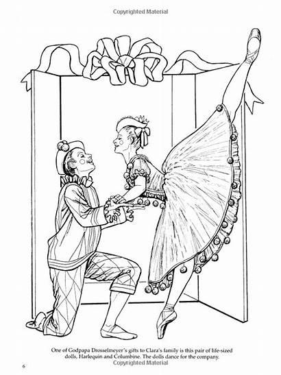 Nutcracker Coloring Ballet Books Brenda Dance Dover