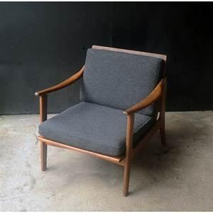fauteuil vintage scandinave en teck annees 60 design With fauteuil cuir design scandinave